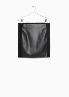 Jupe ne cuir, MANGO OUTLET, 19.99€, RÉF. 31085540 - Sun