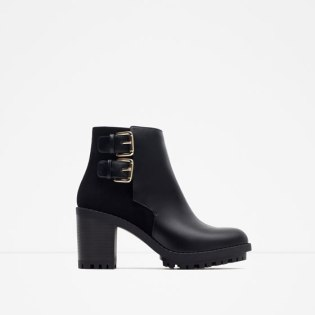 Bottines à boucles , ZARA Réf. 7140/001 ? 39,95€